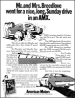 Mr. And Mrs. Breedlove Went For A Nice, Long, Sunday Drive In An AMX | Print Ads
