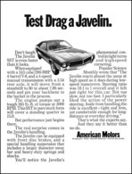 Test Drag A Javelin. Don't Laugh. The 1968 Javelin SST is Even Faster Than it Looks | Print Ads