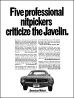 Five Professionals Nitpickers Critiize The Javelin | Print Ads