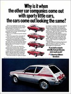 Why Is It When The Other Car Companies Out With Sporty Little Cars For 1971, The Cars Come Out Looking The Same? | Print Ads