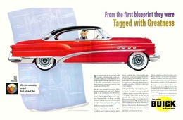 "1953 RoadMaster Ad ""Tagged With Greatness"" 