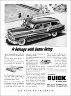 "1953 Century Estate Wagon Ad ""It Belongs With Better Living"" 