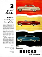 "1953 Buick Ad ""Three Great Buicks"" 