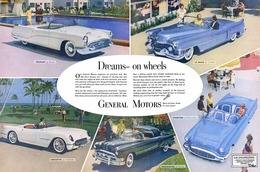 "1953 Buick/GM Corporate ad, Buick Wildcat, ""Dreams on wheels"" 