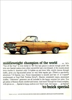 """1963 Buick Special Convertible Ad """"Middleweight champion of the world.""""   Print Ads"""