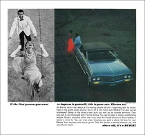 """1964 Buick Electra 225 Ad """"If the first person you want to impress is yourself, this is your car.""""   Print Ads"""
