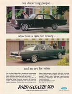 For Discerning People ... Who Have A Taste For Luxury ... And An Eye For Value.   Print Ads