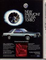 New Fairmont Futura Turbo.   Print Ads