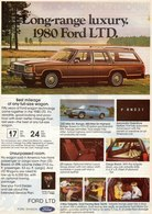 Long-Range Luxury. 1980 Ford LTD.   Print Ads
