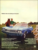 "1968 Buick Skylark Ad ""1968 Buick. Now we're talking your language."" 