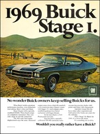 "1969 Buick GS 400 Ad ""1969 Buick Stage 1"" 