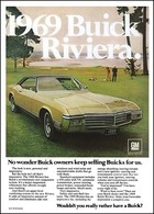 "1969 Buick Riviera Ad ""No wonder Buick owners keep selling Buicks for us.""  