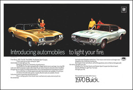 "1970 Buick GS Series Ad ""Introducing automobiles to light your fire"" 