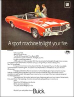 "1970 Buick GS Ad ""A sport machine to light your fire"" 