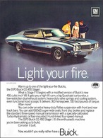 "1970 Buick GS Ad ""Light your fire"" 