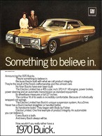 "1970 Buick Electra 225 Ad ""Electra 225 - Something to believe in"" 