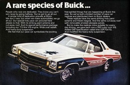 "1975 Buick Century Indy Pace Car Ad ""A rare species of Buick"" 