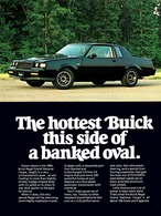 "1984 Buick Grand National Ad ""The hottest Buick this side of a banked oval"" 