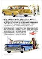 "1958 Chevrolet Ad ""New Wagons with Wonderful Ways"" | Print Ads"