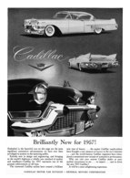 """1957 Cadillac New Models Ad """"Brilliantly New for 1957!"""" 