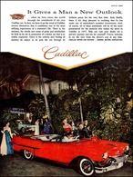 """1957 Cadillac Convertible, """"It Gives a Man a New Outlook"""" 