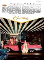"1957 Cadillac, ""A single glance tells the story"" | Print Ads"