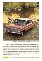 """1959 Chevrolet Ad """"Chevy's got the ride and room to go anywhere."""" 