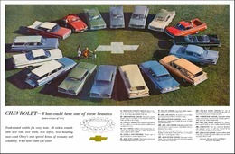 """1959 Chevrolet Ad """"What could beat one of these beauties"""" 