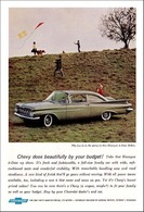 """1959 Chevrolet Ad """"Chevy does beautifully by your budget!"""" 