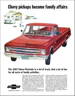 1967 Chevrolet Fleetside pick-up, red | Print Ads