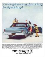 1967 Chevrolet Chevy II Nova SS, sport coupe, blue | Print Ads