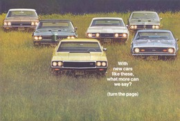 """1968 Chevrolet/GM Corporate ad, """"With cars like these..."""" 
