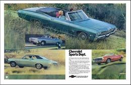 1968 Chevrolet multi-series: Impala SS convertible, Camaro SS convertible, Chevelle SS396 convertible, Nova SS 350 | Print Ads
