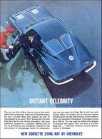 1963 Chevrolet Corvette sport coupe, Instant Celebrity | Print Ads