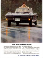 "1964 Corvette Ad ""Walter Mittys of the world, rejoice!"" | Print Ads"