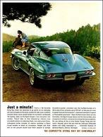 "1964 Corvette Ad ""Just a minute!"" | Print Ads"