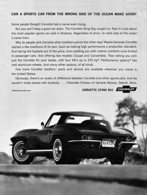 """1964 Corvette Ad """"Can a sports car from the wrong side of the ocean make good?"""" 