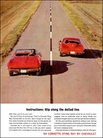 """1964 Corvette Ad """"Instructions; clip along the dotted line"""" 