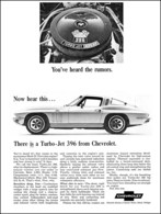 """1965 Corvette Ad """"You've heard the rumors . . . There is a 396 Turbo-Jet from Chevrolet"""" 
