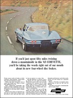 1965 Corvette sport coupe, blue | Print Ads