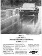 1965 Corvette convertible w/removable hardtop, black & white | Print Ads