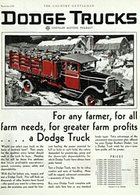 For Any Farmer, For All Farm Needs, For Greater Farm Profits .... A Dodge Truck. | Print Ads