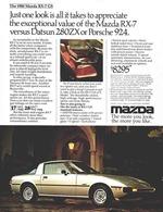 Mazda RX-7 GS Sports Car  | Print Ads