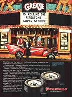 Grease is rolling on Firestone Super Stones | Print Ads
