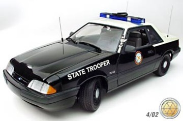 1989 Ford Mustang LX 5.0 Police Special - Florida Highway Patrol | Model Cars