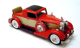Midlantic packard rumble seat coupe red and gold medium