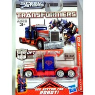 Hasbro transformers optimus prime 18 wheeler truck cab cyber hunt series  medium