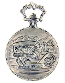 Mercedes-1903, Montres Carlo Pocket Watch with Chain | Pocket Watches | 1903 Mercedes