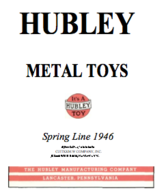 Hubley Toy Line - Spring Line 1946 | Brochures and Catalogs | Hubley Metal Toys - Spring Line 1946 Cover