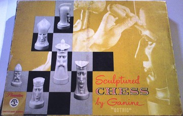 "Sculptured Chess by Ganine ""Gothic"" 